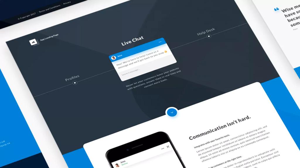 ico landing page design